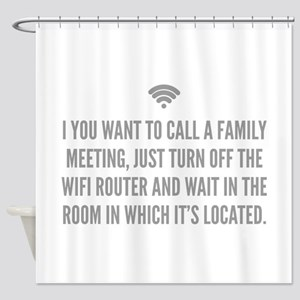 Wifi Router Shower Curtain