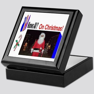 Santa Knows All Keepsake Box