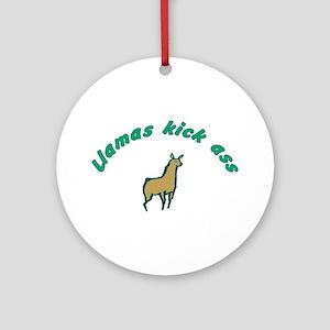 Llamas Ornament (Round)