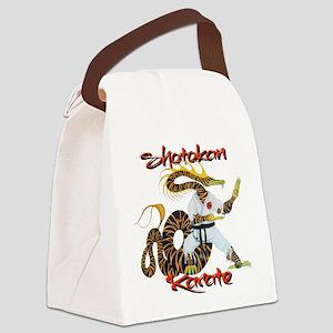 Shotokan Karate Dragon Design Canvas Lunch Bag