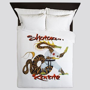 Shotokan Karate Dragon Design Queen Duvet
