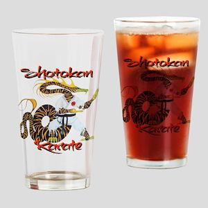 Shotokan Karate Dragon Design Drinking Glass