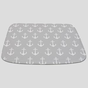 Light Grey Anchor Pattern Bathmat