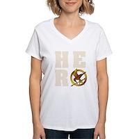Hunger Games Hero Women's V-Neck T-Shirt