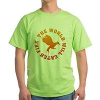 The World Will Catch Fire Green T-Shirt