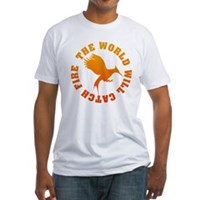 The World Will Catch Fire Fitted T-Shirt