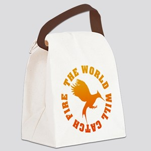 The World Will Catch Fire Canvas Lunch Bag