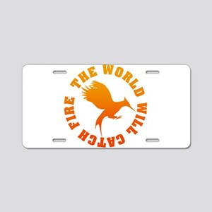 The World Will Catch Fire Aluminum License Plate