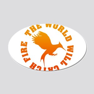 The World Will Catch Fire 20x12 Oval Wall Decal