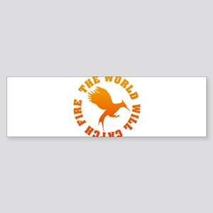 The World Will Catch Fire Sticker (Bumper)