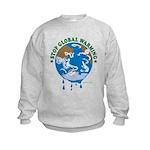 Earth Day : Stop Global Warming Kids Sweatshirt