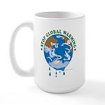 Earth Day : Stop Global Warming Large Mug