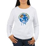 Earth Day : Stop Global Warming Women's Long Sleev