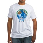 Earth Day : Stop Global Warming Fitted T-Shirt