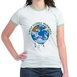 Earth Day : Stop Global Warming Jr. Ringer T-Shirt