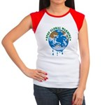 Earth Day : Stop Global Warming Women's Cap Sleeve