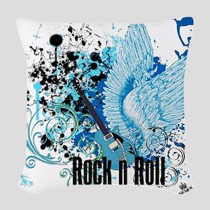 ROCK N ROLL Woven Throw Pillow