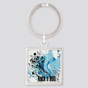 ROCK N ROLL Square Keychain