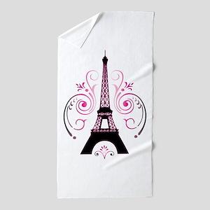 Eiffel Tower Gradient Swirl Beach Towel