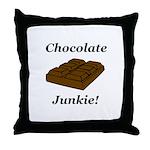 Chocolate Junkie Throw Pillow