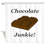 Chocolate Junkie Shower Curtain