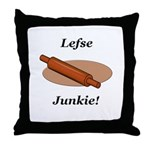 Lefse Junkie Throw Pillow