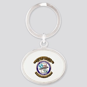 USS Enterprise (CVN-65) with Text Oval Keychain