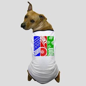 Triathlon TRI Swim Bike Run Dog T-Shirt