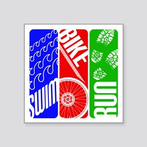 Triathlon TRI Swim Bike Run Sticker