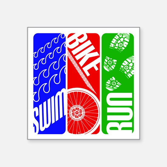 Triathlon TRI Swim Bike Run Sticker