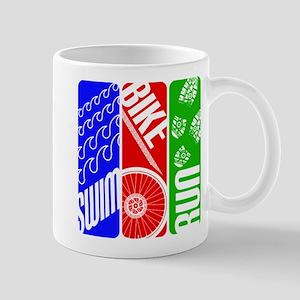 Triathlon TRI Swim Bike Run Mugs