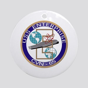 USS Enterprise (CVN-65) Ornament (Round)