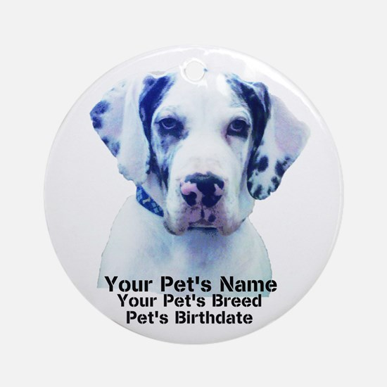 Personalize Pet Gifts! Ornament (Round)