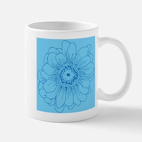 Blue Daisy flower Mugs