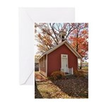 Little Red Schoolhouse Greeting Cards