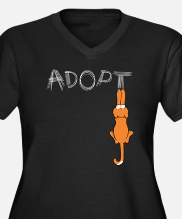 Adopt Cats Rusty™ Plus Size T-Shirt