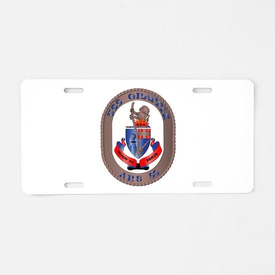 USS Grapple (ARS-53) Aluminum License Plate