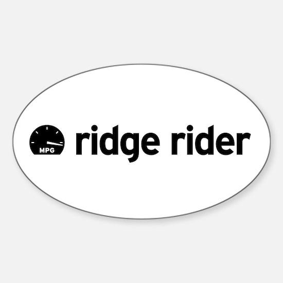 Ridge Rider Oval Decal