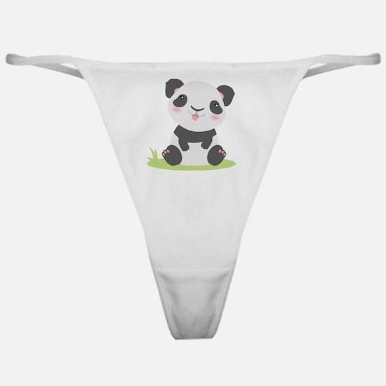 Cute Panda Classic Thong