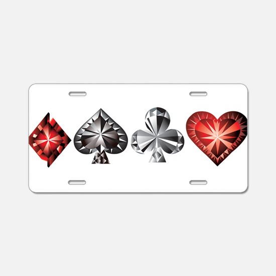 Poker Gems Aluminum License Plate