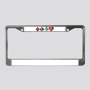 Poker Gems License Plate Frame