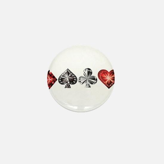 Poker Gems Mini Button