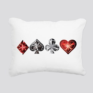 Poker Gems Rectangular Canvas Pillow