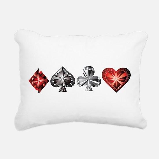Poker Gems Rectangular Canvas Pillow