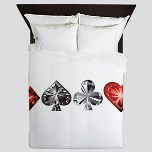 Poker Gems Queen Duvet
