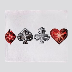 Poker Gems Throw Blanket