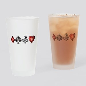 Poker Gems Drinking Glass