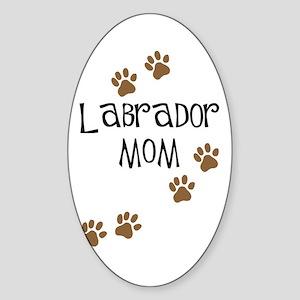 Labrador Mom Oval Sticker