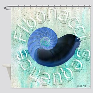 fibonacci sequence Shower Curtain