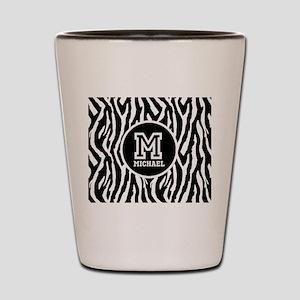 Zebra Animal Print Personalized Monogram Shot Glas